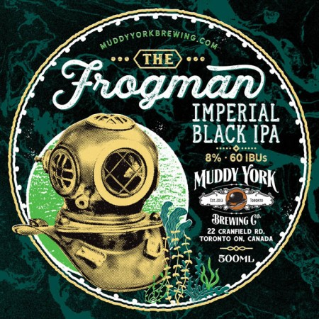 Muddy York Brewing Releases The Frogman Imperial Black IPA