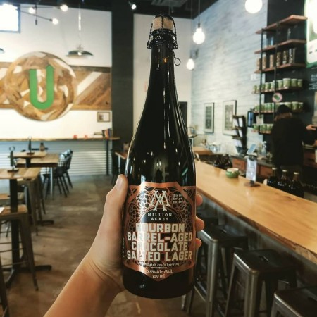 Upstreet Craft Brewing Continues Million Acres Series with Bourbon Barrel-Aged Chocolate Salted Lager