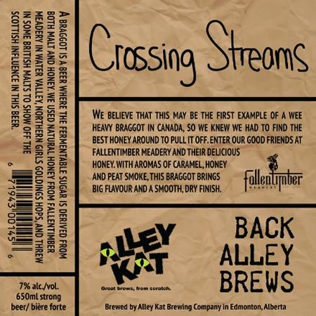 Alley Kat Back Alley Brews Series Continues with Crossing Streams Wee Heavy Braggot