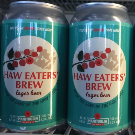 Manitoulin Brewing Releases Haw Eaters' Brew Lager