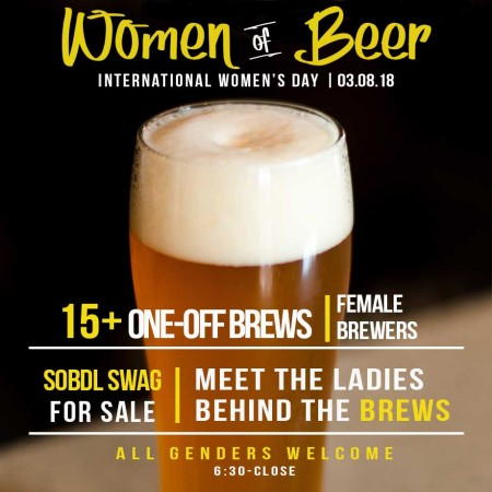 Society of Beer Drinking Ladies Hosting International Women's Day Beer Dinner & Tap Feature at Craft Brasserie