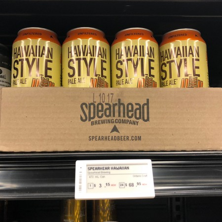 Spearhead Brewing Hawaiian Style Pale Ale Now Available at The Beer Store