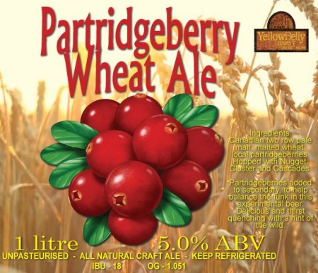 YellowBelly Brewing Releases Partridgeberry Wheat Ale