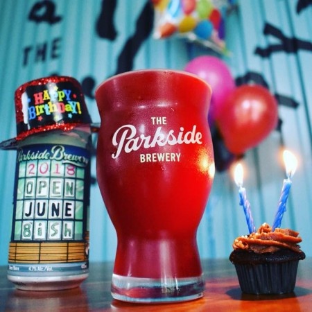 Parkside Brewery Releases Raspberry Gose for 2nd Anniversary