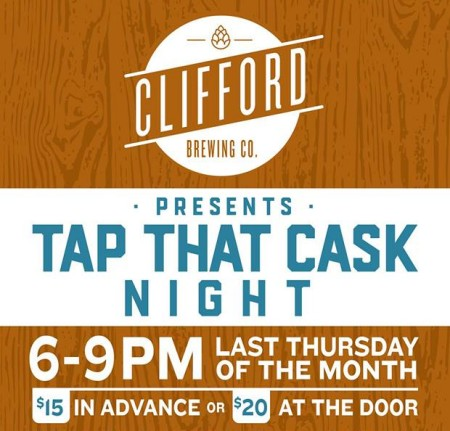 Clifford Brewing Launching Monthly Tap That Cask Night