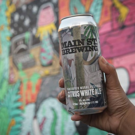 Main Street Brewing Supports Vancouver Mural Festival with Citrus White Ale