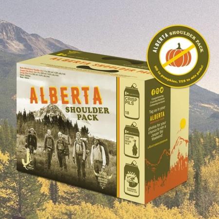 Jasper Brewing and Wood Buffalo Brewing Releasing Alberta Shoulder Pack