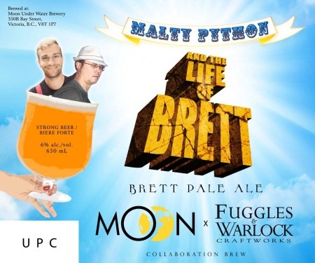 The Moon Under Water Brewery and Fuggles & Warlock Craftworks Releasing Malty Python and the Life of Brett