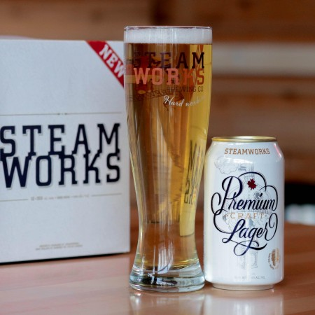 Steamworks Brewing Premium Craft Lager Now Available