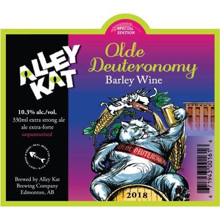 Alley Kat Brewing Releasing 2018 Vintage of Olde Deuteronomy Barley Wine This Week