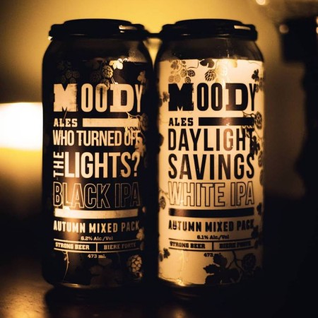 Moody Ales Releases Who Turned Off The Lights? Black IPA & Daylight Savings White IPA