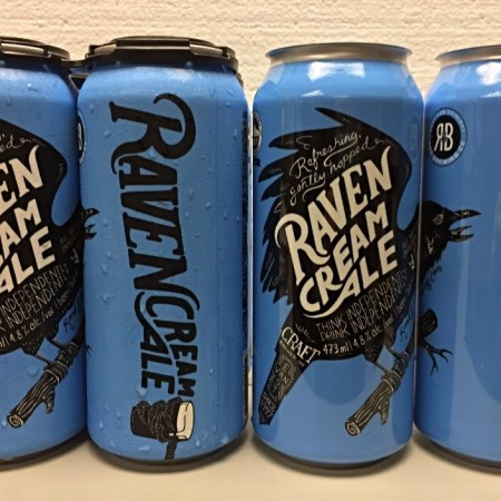 R&B Brewing Raven Cream Ale Now Available in Cans