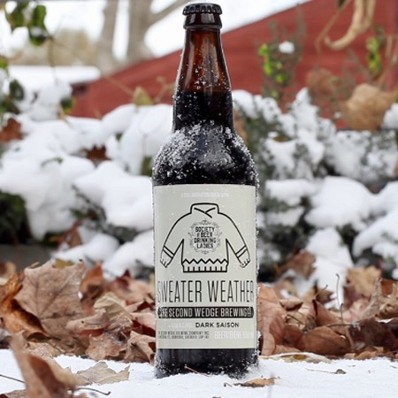 The Second Wedge Brewing & Society of Beer Drinking Ladies Bring Back Sweater Weather Dark Saison