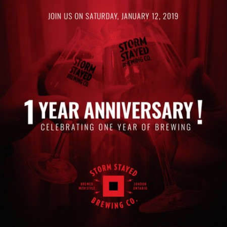 Storm Stayed Brewing Announces 1st Anniversary Celebration