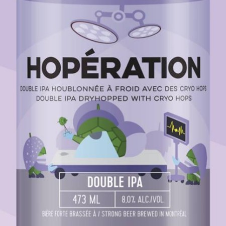 Microbrasserie 4 Origines Releasing Hopération Double IPA