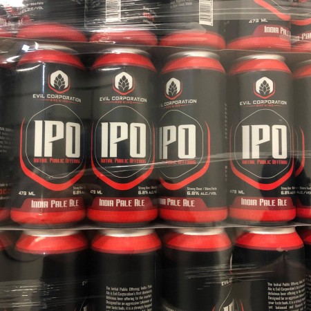 Evil Corporation Brewing Launches in Calgary with Initial Public Offering IPA
