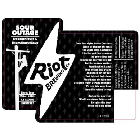 Riot Brewing Releasing Sour Outage Passionfruit Plum Dark Sour