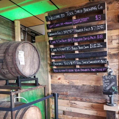 Tool Shed Brewing Serving Barrel-Aged Beers Straight From the Barrel