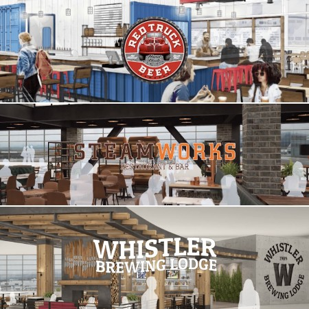 Red Truck Beer, Steamworks Brewing & Whistler Brewing Opening Restaurants in Vancouver International Airport