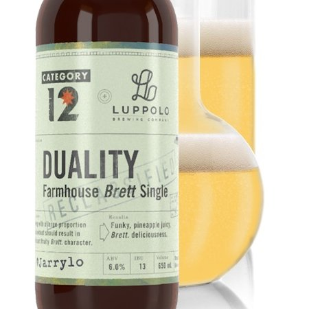 Category 12 Brewing and Luppolo Brewing Release Duality Farmhouse Brett Single Ale