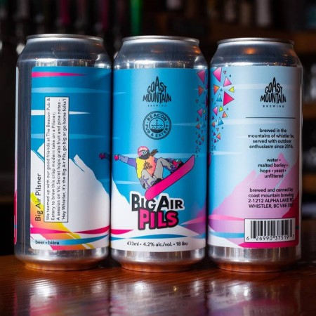 Coast Mountain Brewing Releases Big Air Pils for World Ski & Snowboard Festival