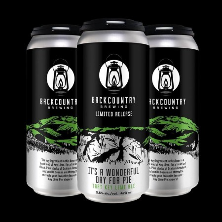 Backcountry Brewing Releases It's a Wonderful Day for Pie Tart Key Lime Ale