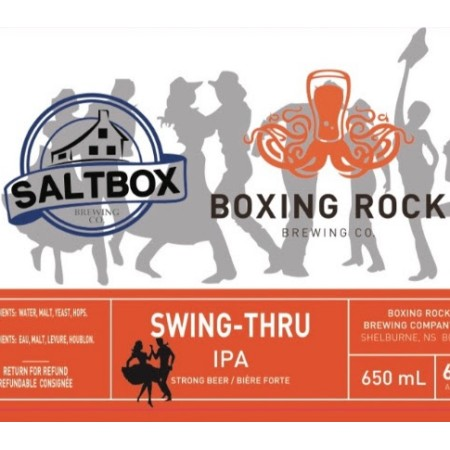 Boxing Rock Brewing and Saltbox Brewing Release Swing-Thru IPA