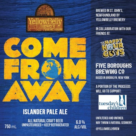YellowBelly Brewery Releases Come From Away Islander Pale Ale