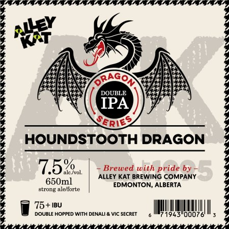 Alley Kat Brewing Dragon Double IPA Series Continues with Houndstooth Dragon