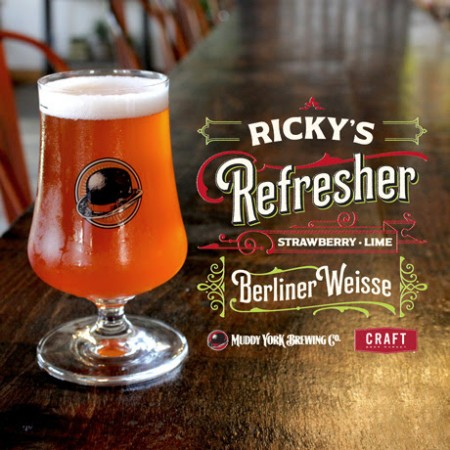 Muddy York Brewing and Craft Beer Market Release Ricky's Refresher Strawberry-Lime Berliner Weisse