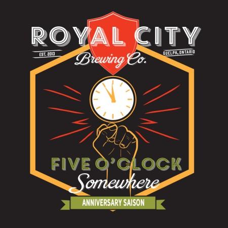 Royal City Brewing Releasing Five O'clock Somewhere Anniversary Saison