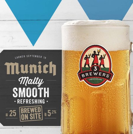 Les 3 Brasseurs/The 3 Brewers Releases 2019 Edition of Munich