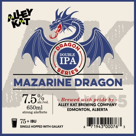 Alley Kat Brewing Dragon Double IPA Series Continues with Mazarine Dragon