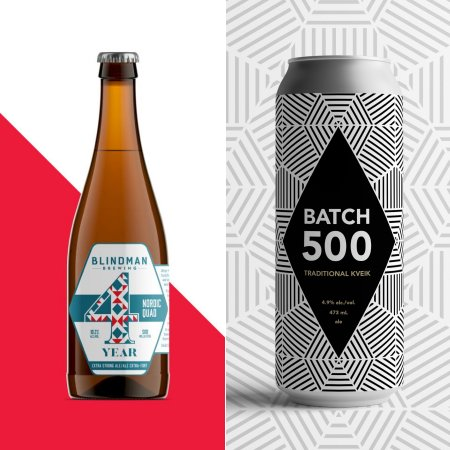 Blindman Brewing Releases Year 4 Nordic Quad and Batch 500 Traditional Kveik