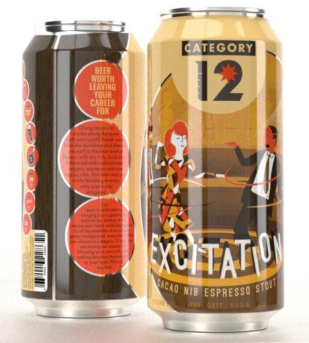 Category 12 Brewing Excitation Stout Returns in Cans