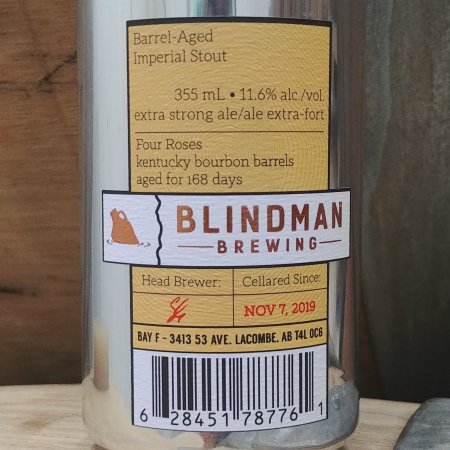 Blindman Brewing Releases Bourbon Barrel Aged Imperial Stout 2019