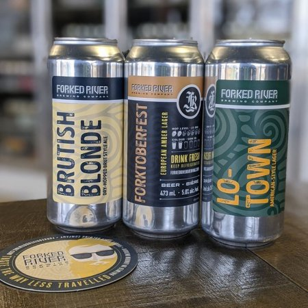 Forked River Brewing Releases Lo-Town Lager,Forktoberfest Amber Lager, andBrutish Blonde Ale