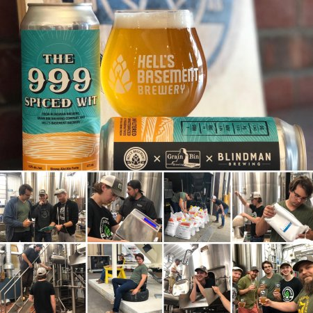 Hell's Basement Brewery, Blindman Brewing and Grain Bin Brewing Release The 999 Spiced Wit