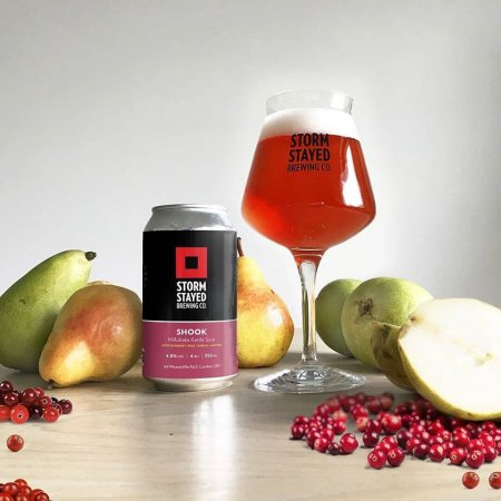 Storm Stayed Brewing Releases Shook Cranberry & Pear Milkshake Kettle Sour