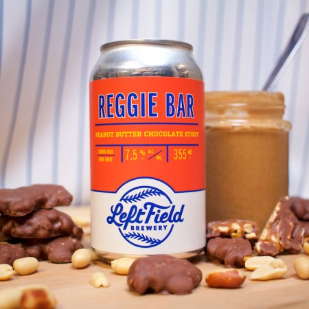 Left Field Brewery Releases Reggie Bar Peanut Butter Chocolate Stout