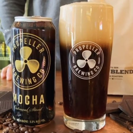 Propeller Brewing Releases Nitro Cans of Mocha Oatmeal Stout