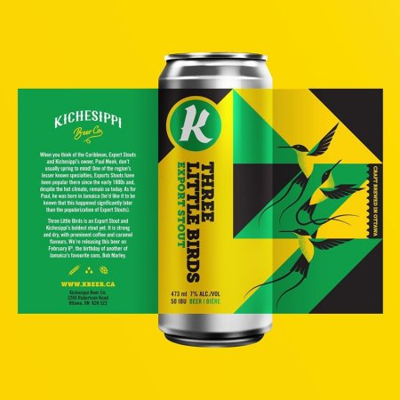 Kichesippi Beer Releases Three Little Birds Export Stout