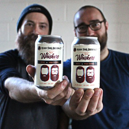 Muddy York Brewing and VQH Farms Release Twin Whiskers DIPA