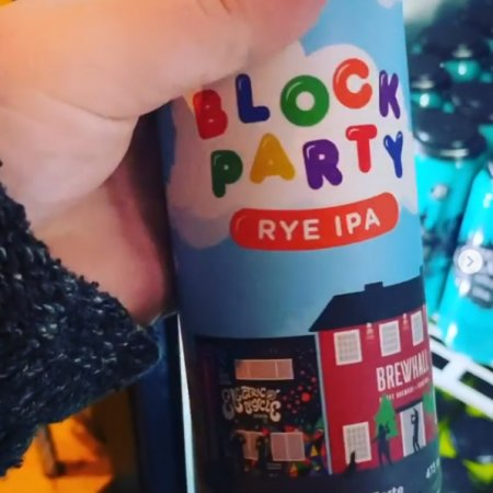 R&B, Electric Bicycle, Faculty and BREWHALL Release Block Party Rye IPA
