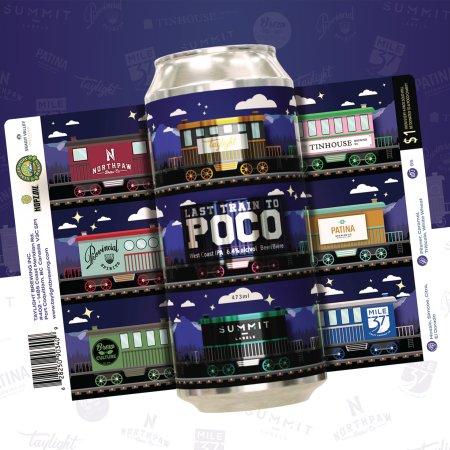 Port Coquitlam Breweries Releasing Collaborative Last Train to Poco West Coast IPA