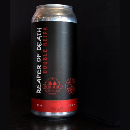 Medicine Hat Brewing and Valley Brewing Release Reaper Of Death Double NEIPA