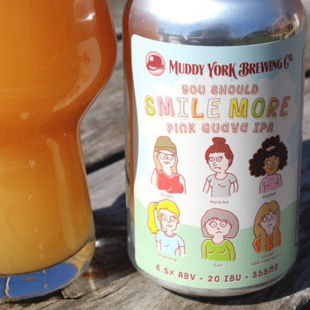 Muddy York Brewing Releases You Should Smile More Pink Guava IPA