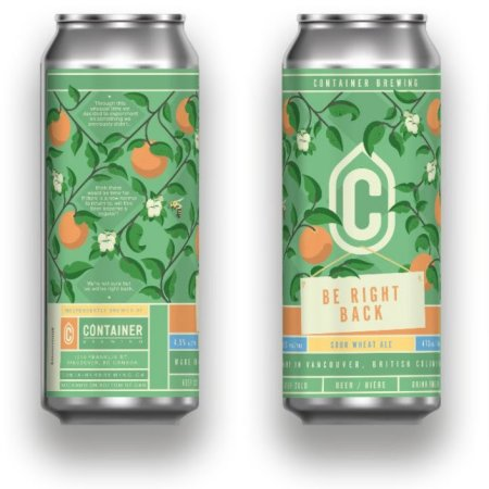 Container Brewing Releasing Be Right Back Sour Wheat Ale