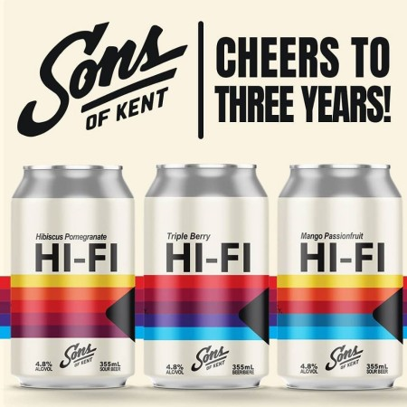 Sons of Kent Brewing Releases Three Versions of Hi-Fi Sour for 3rd Anniversary