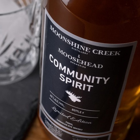 Moosehead Breweries and Moonshine Creek Distillery Releasing Community Spirit Rye Whisky to Support New Brunswick Food Banks